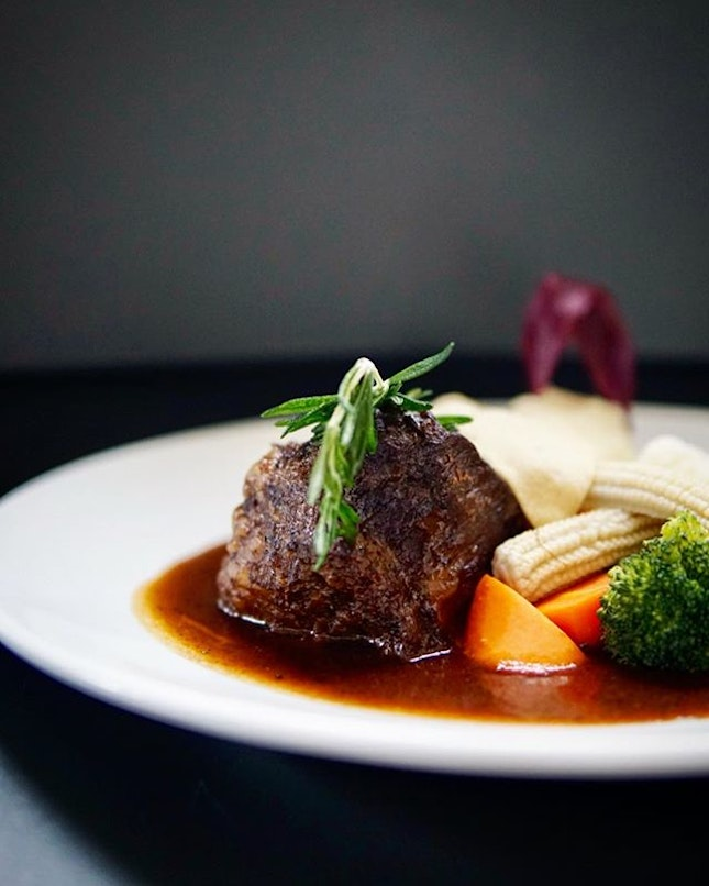 Wagyu Cheek This might not look much but this Slow Braised Wagyu Beef Cheek is really all that tender and succulent.