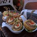 The Crispy Lychee with Kurobuta Pork Loin and Bacon (SGD$24.00) - crispy lychee wrapped with kurobuta pork loin and apple-smoked bacon; served dressed with mayonnaise and ebikko.
