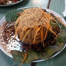 """The signature Tahu Telur (deep-fried beancurd with egg with special gravy), very flakey, crispy and sweet on the exterior; silken smooth and milky-soft within ..i can see why it's a """"signature"""" easily..."""