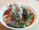 Beef Brisket Ramen with spicy soup base, springy noodle and succulent, bouncy beef brisket.