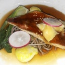 My Miso Snapper with Soba Noodles in dark sauce was surprisingly sumptuous.