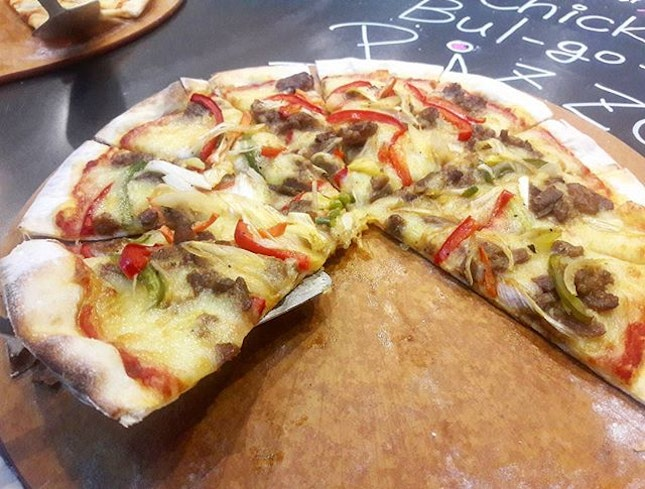 bulgogi pizza how about a slice of korean right now