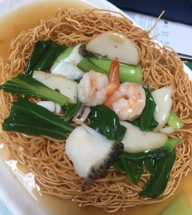 Seafood fried noodle ($3.20)