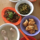 Bak Kut Teh + Large Intestines + Pickled Veg