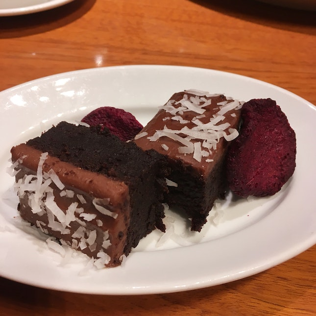 Dark Chocolate & Organic Beetroot Vegan Brownie