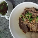 Dry Beef Noodle 8$ Plus Soup 1$
