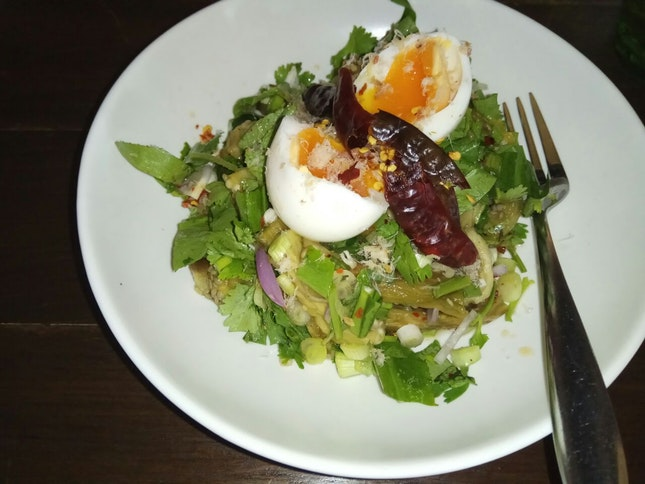 Grilled Eggplant Salad 24++