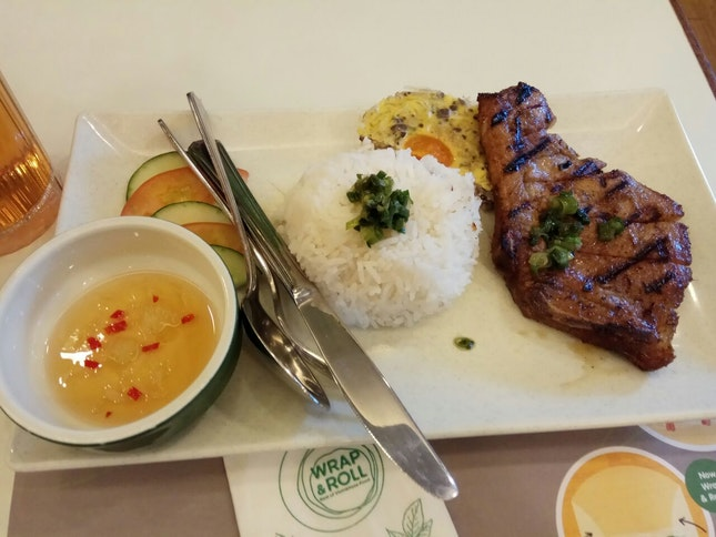 Grilled Pork Chop Rice With Salted Egg Pudding 12.9++