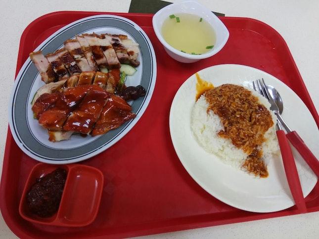 Sio Bak Rice W Extra Sio Bak (4nett) +Duck Drumstick (+5nett)