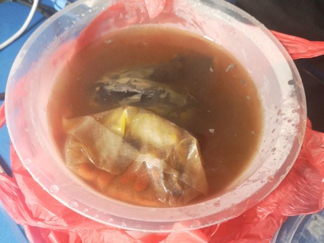 Black Chicken Soup 7nett +0.3nett Takeaway