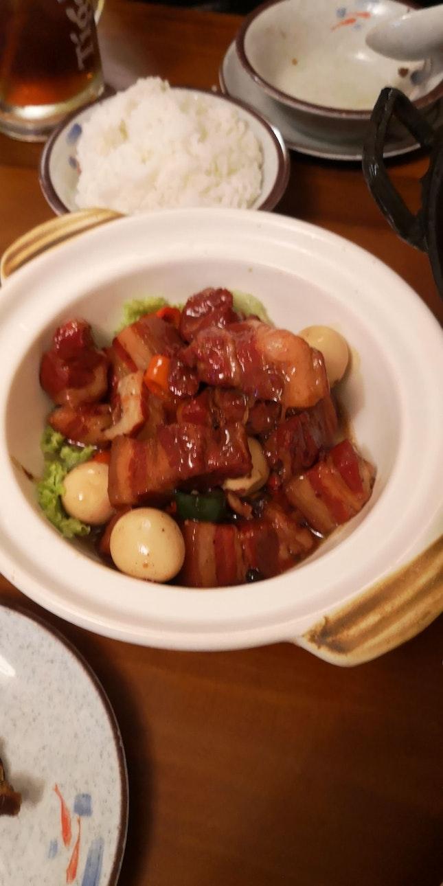 Claypot Pork Belly In Brown Sauce 18++?