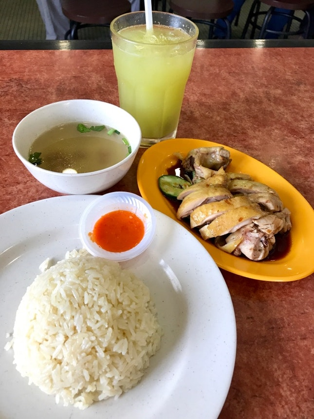 Steamed Chicken Rice (RM11)