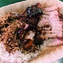Char siew and Roast Pork Rice