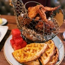 Chicken 'N' Watermelon 'N' Waffles