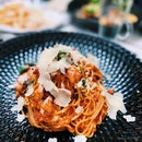 Chicken Rosa Penne & Truffle Shoestring Fries