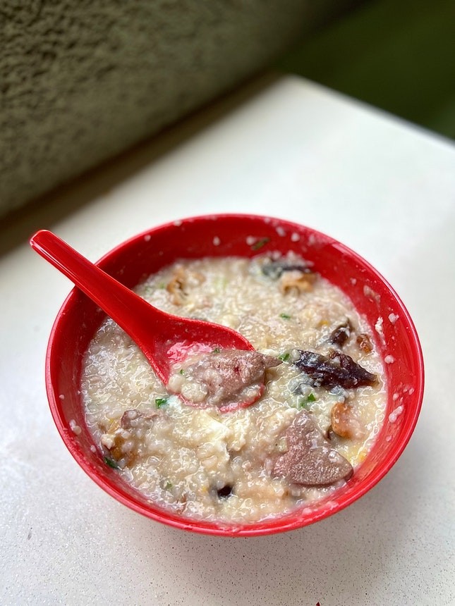 Mixed Pork Porridge with Century Egg