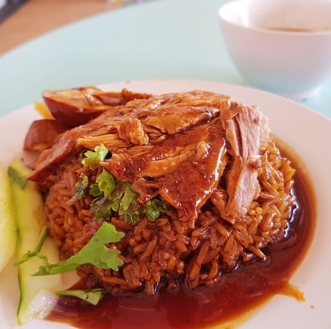 Braised Duck Rice Set ($4)