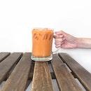 They weren't kidding when they said it's jumbo thai milk tea.