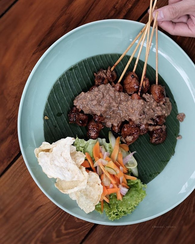 We love having satay (or sate) in Bandung, Indonesia.