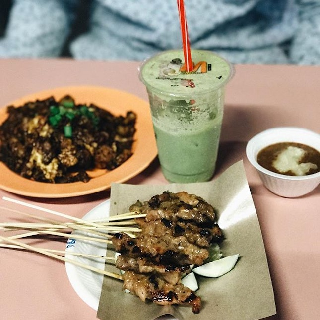 [SG] Carrot cake, Satay and Avocado juice at one of my Favourite Food Centres!