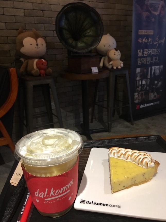 Sweet Potato Latte & Lemon Tart