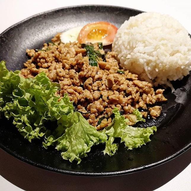 Thai basil rice @thaiexpresssg Big portion 😋
