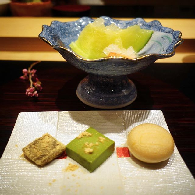 Sweet endings to our wonderful Omakase meal.