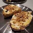 Honey Mascarpone Toast ($14)