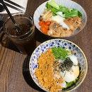 Mazesoba ($7) & Grilled Pork Bowl ($9)