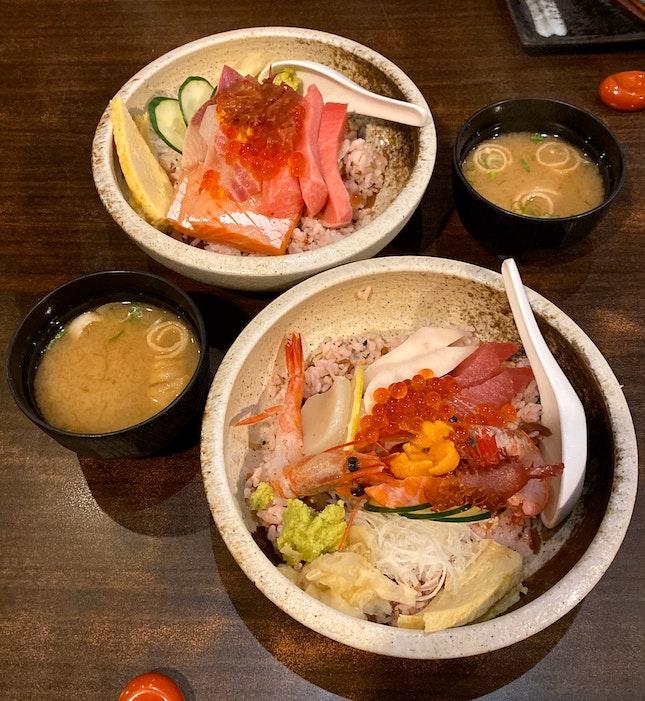 Premium Chirashi ($48) & Jin Chirashi ($35)