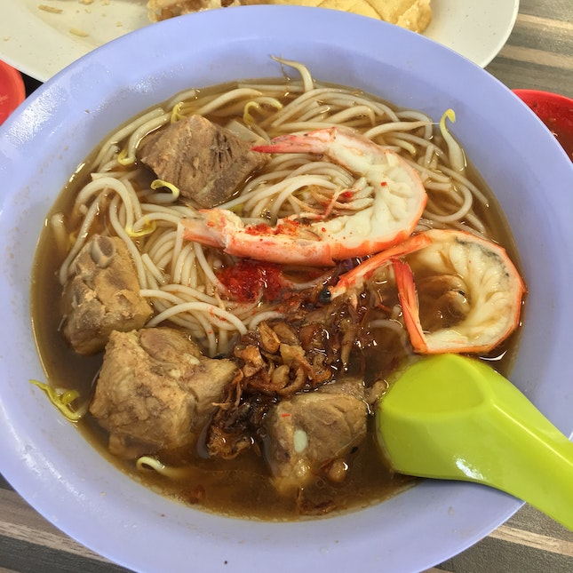 Prawn Mee Soup With Pork Ribs