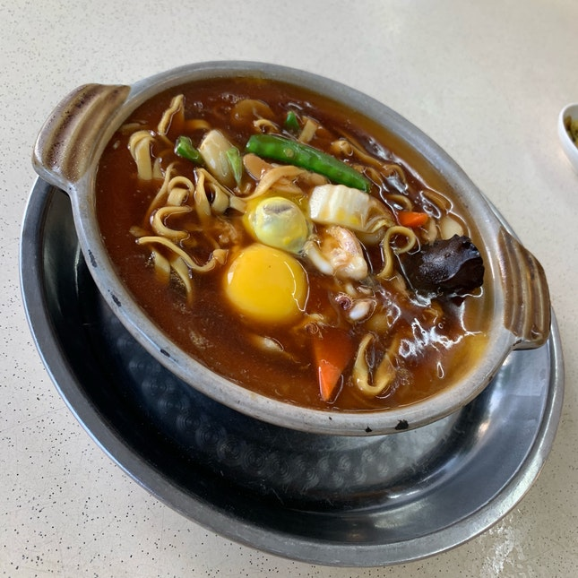 Seafood Claypot Noodles