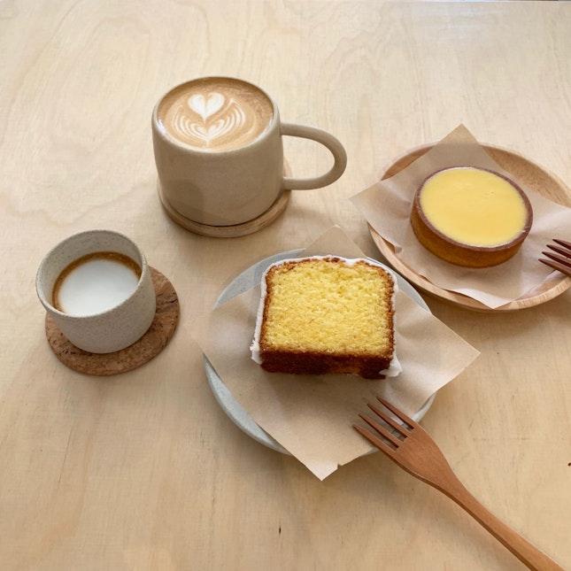 Tart, Sliced Cake & Caffeine