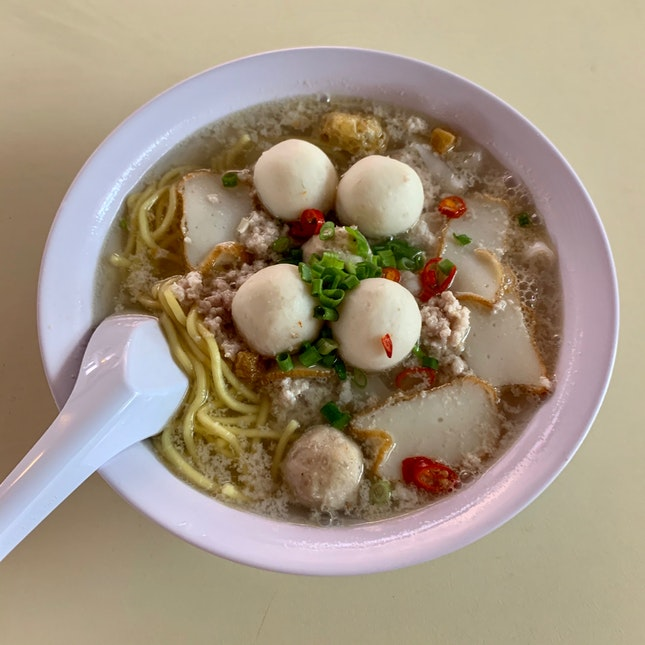 Kway Teow Mee Soup