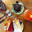 Brownie, Red Velvet Sliced Cake & Orange Lemonade