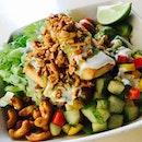 Lemongrass Tofu With Brown Rice , Curried Cashews And Homemade Vegan Cashew Mayo