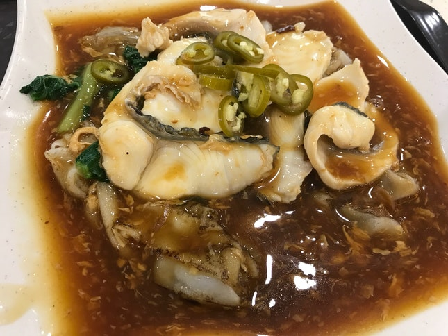 Fish Hor Fun In Egg Gravy