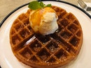 Waffle And Vanilla Bean Ice Cream