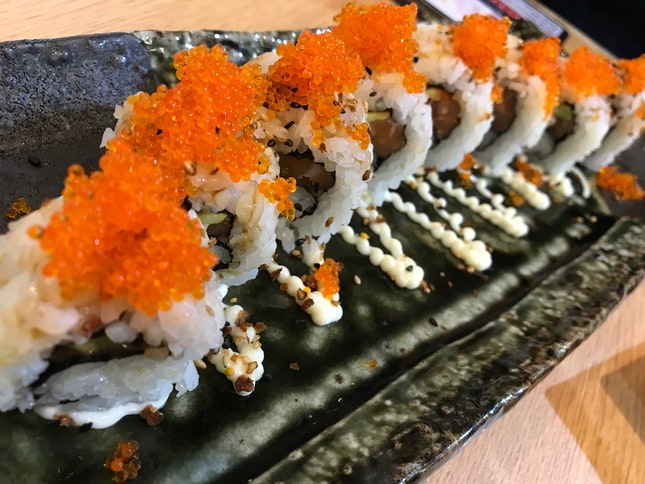 Raw Salmon And Avocado Sushi