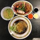 Chicken, Roast Pork & Char Siew Noodles