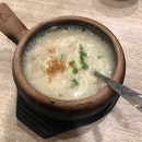 Dried Scallop Porridge with Fish Maw & Razor Clam 鱼鳔鲍贝粥