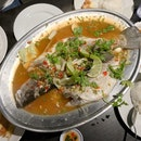 Steamed Seabass w/ Chili, Lime & Garlic