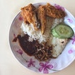 Nasi Lemak with chicken wing