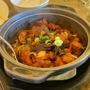 Stewed Chicken With Salted Fish Claypot Rice ($16)