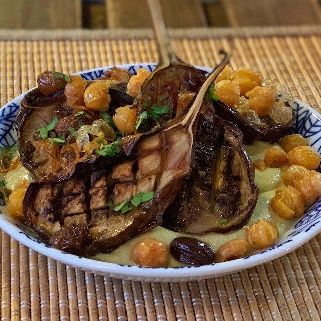 Roasted Baby Eggplants ($8)