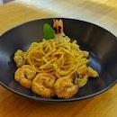 Seafood Tomyam Pasta ($14)