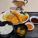 Tonkatsu and Fried Ebi Set