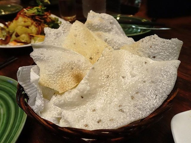 Rice crackers that came with our salads.