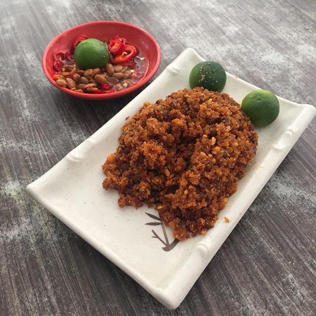 Hae Bee Hiam or spicy dried shrimp sambal.