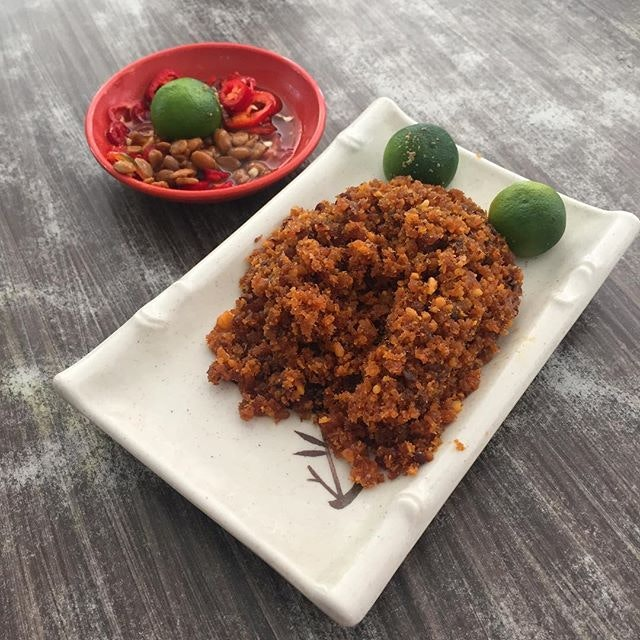 Hae Bee Hiam or spicy dried shrimp sambal.